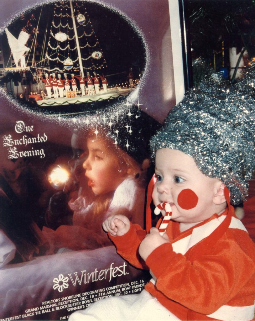 1992 Winterfest Boat Parade Poster and baby