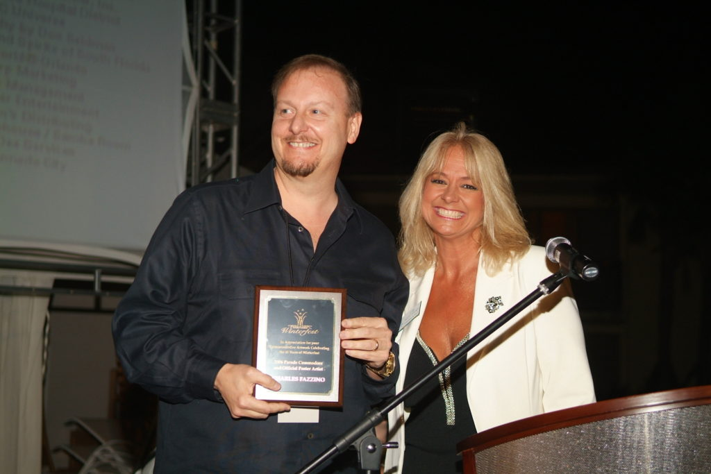2006 Poster Artist Charles Fazzino and Executive Director Lisa Scott-Founds