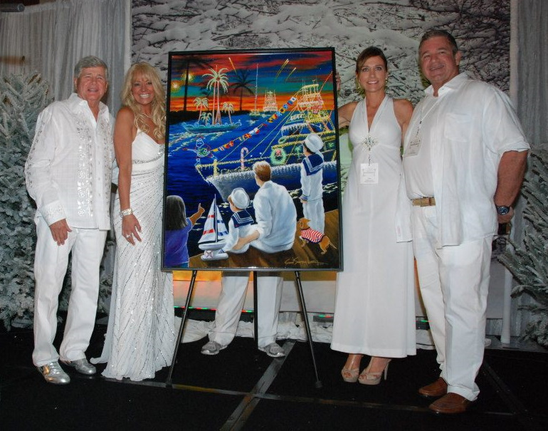 2012 Poster Artist Susan Sommer-Luarca and Board Members