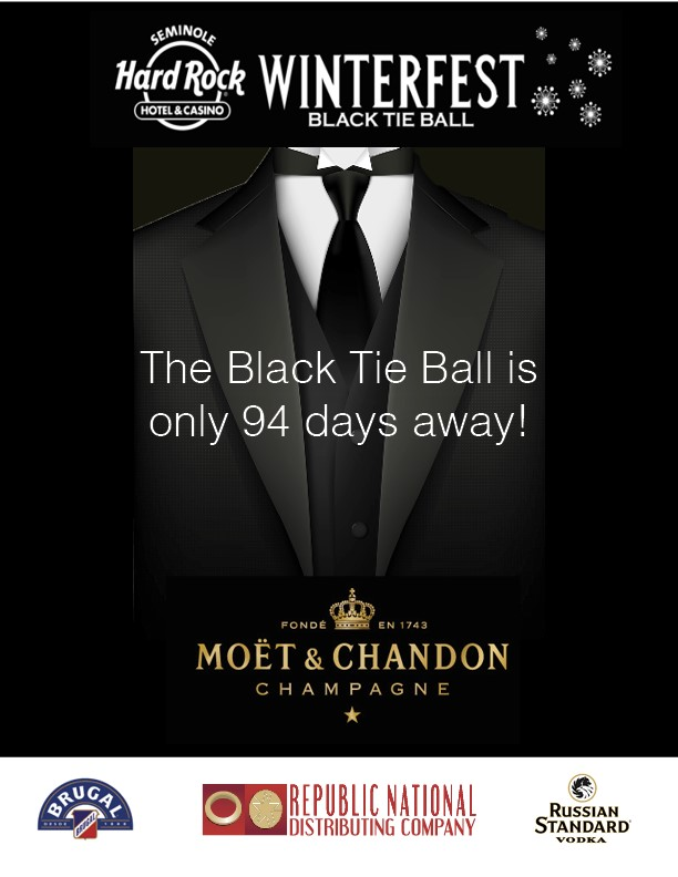 Seminole Hard Rock Winterfest Black Tie Ball presented by Moet & Chandon - less than 94 days away