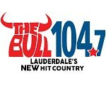 Logo for 104.7 The Bull