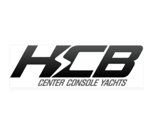 HCB center console yachts logo