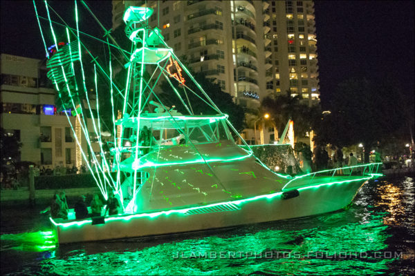photo of boat from the parade