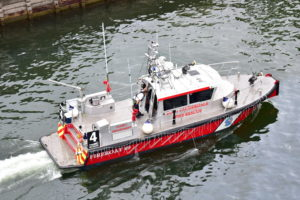 Fire rescue boat from the parade