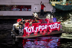 Toys for Tots non-profit boat entry for the parade