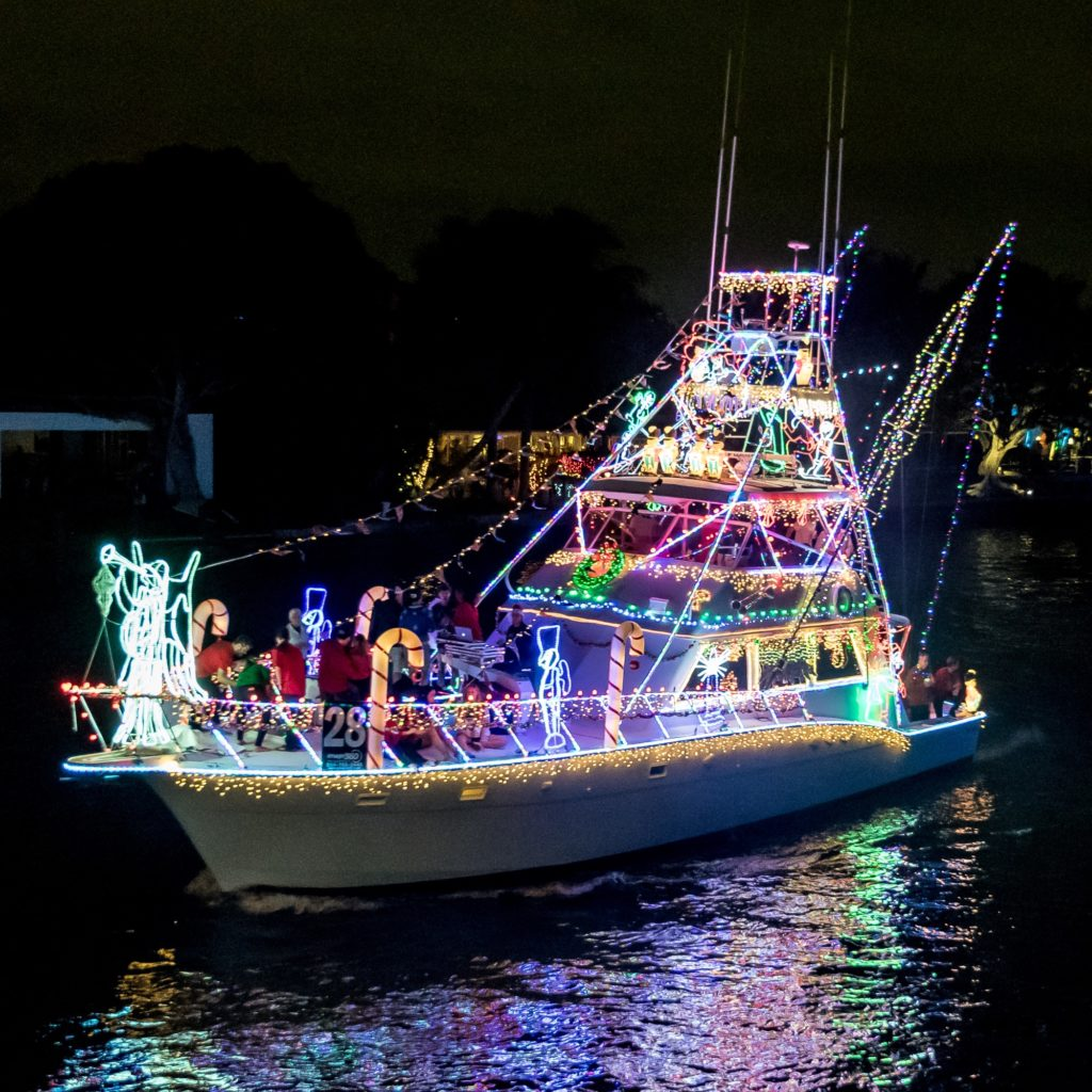 An image of a Private Boat in the Winterfest Boat Parade