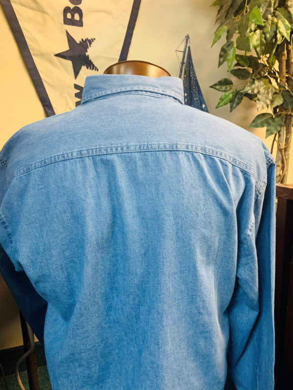 Denim men's shirt back