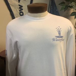 White long sleeve with anchor shirt front