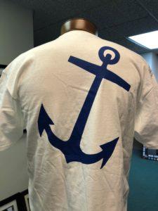 back side of winterfest white short sleeve tee shirt