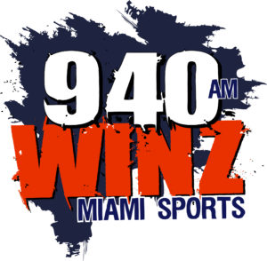 logo for 940 AM Winz Miami Sports radio station