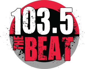logo for 103.5 the beat radio station