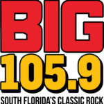 logo for big 105.9 south florida's classic rock radio station