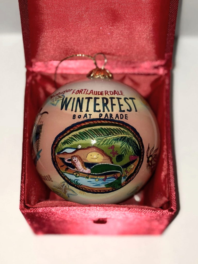 """2013 Collectible Ornament - """"Passport to Paradise"""""""