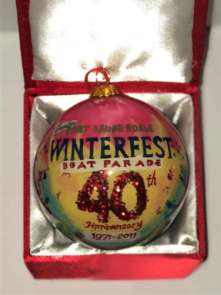 """2011 Collectible Ornament - """"Rockin' Boats and Holiday Floats"""""""