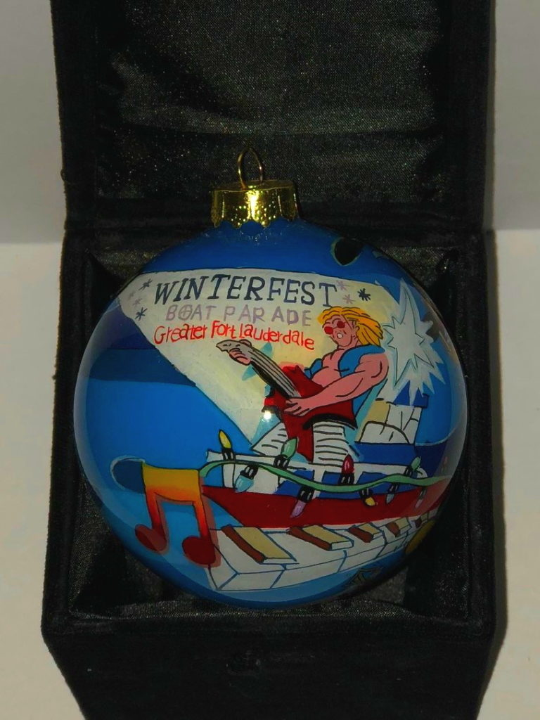 """2008 Collectible Ornament - """"Rockin' the Night Aweigh"""""""