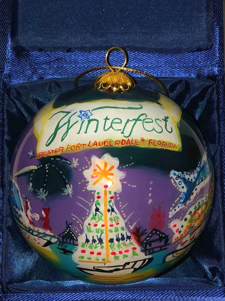 """2001 Collectible Ornament - """"On A River of American Dreams"""""""