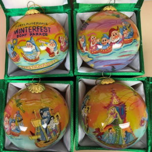 Four Winterfest Collectible Ornaments