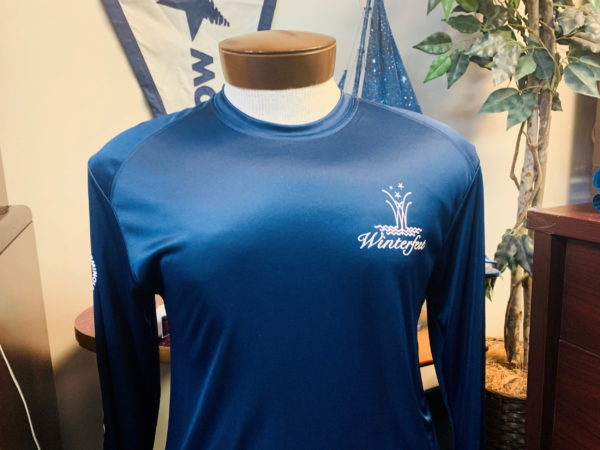 Navy blue long sleeve and quick dry shirt front