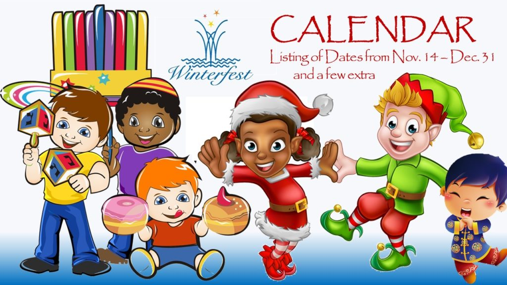 Children celebrating all the year end holidays