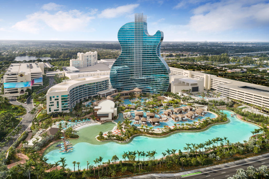 The Seminole Hard Rock Guitar Hotel property