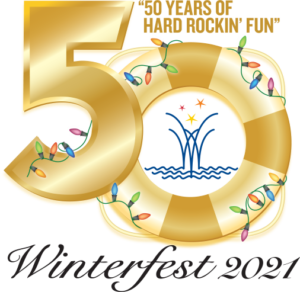 Logo for the Winterfest Boat Parade's Fiftieth Anniversary
