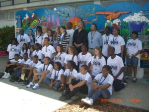 2010 Fazzino Mural - city centinnial at Fort Lauderdale High School