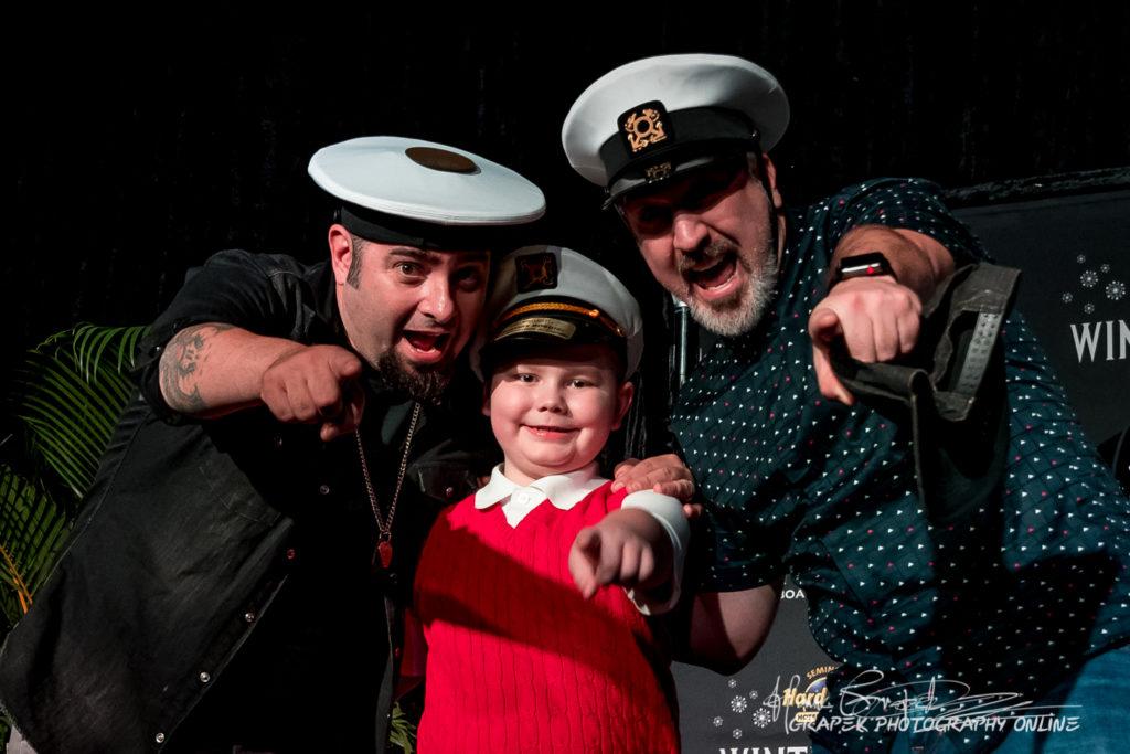 2018 Junior Captain Thomas Boegler with NSYNC's Joey Fatone and Chris Kirkpatrick