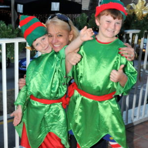 """A picture of two Winterfest """"Elves"""""""