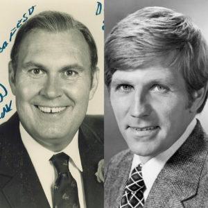 Head shots of Willard Scott and Gary Collins