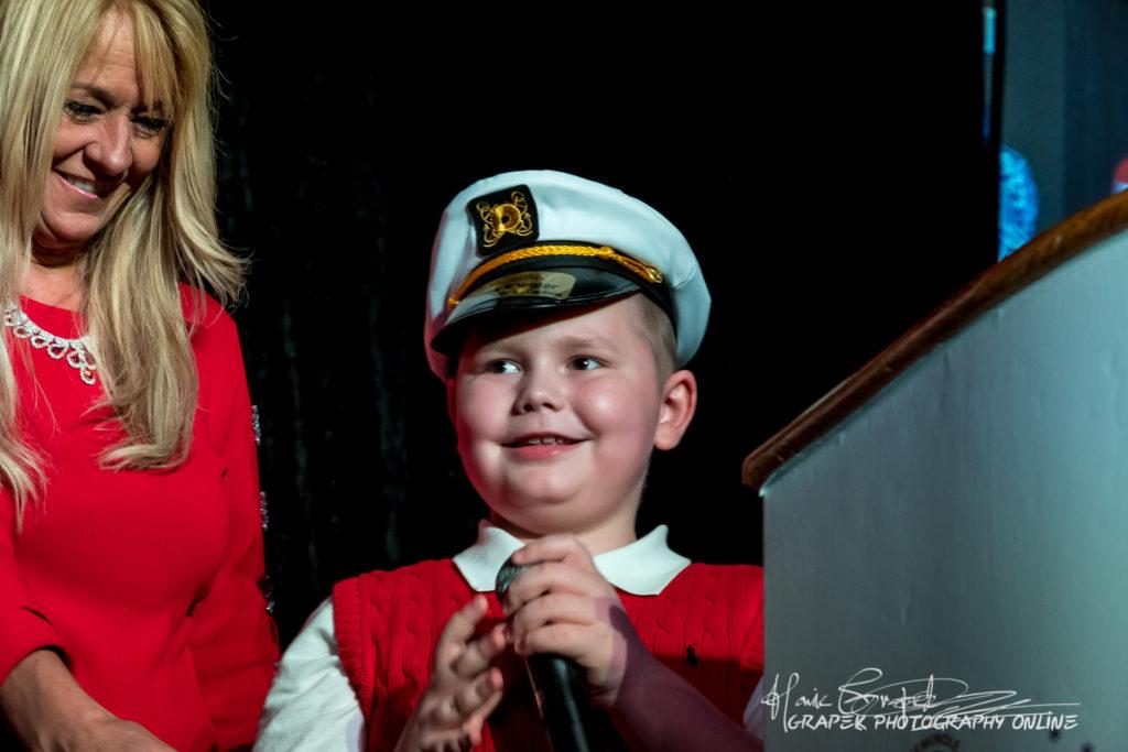 2018 Junior Captain Thomas Boegler with President/CEO Lisa Scott-Founds